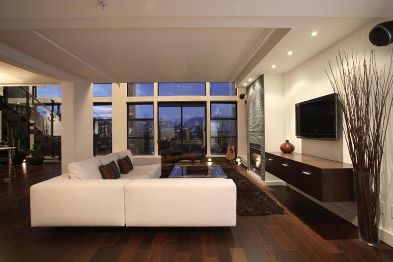 25 Living Rooms With Hardwood Floors-25