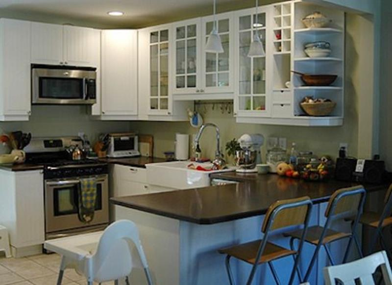 20 Pictures of Before and After Kitchen Makeovers With Cost-17