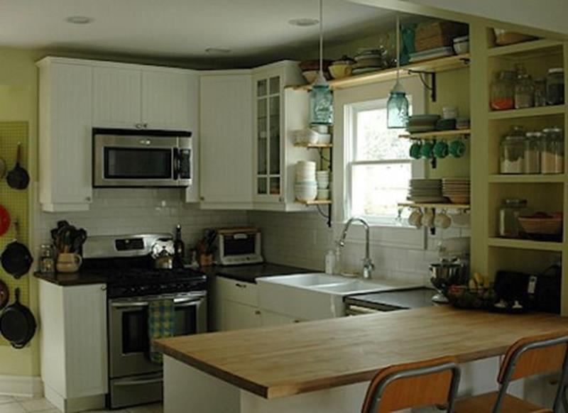 20 Pictures of Before and After Kitchen Makeovers With Cost-18