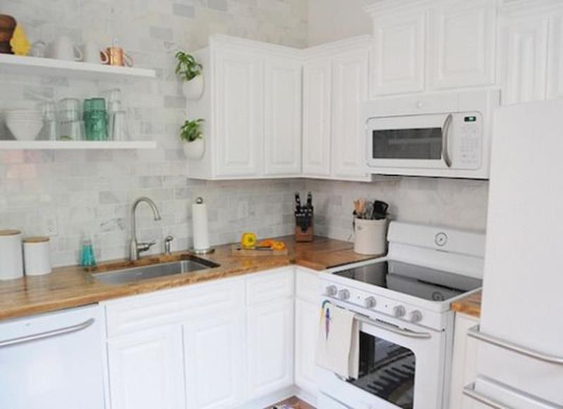 20 Pictures of Before and After Kitchen Makeovers With Cost-6