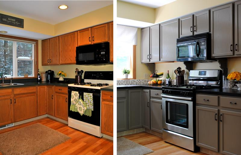 20 Pictures of Before and After Kitchen Makeovers With Cost-title