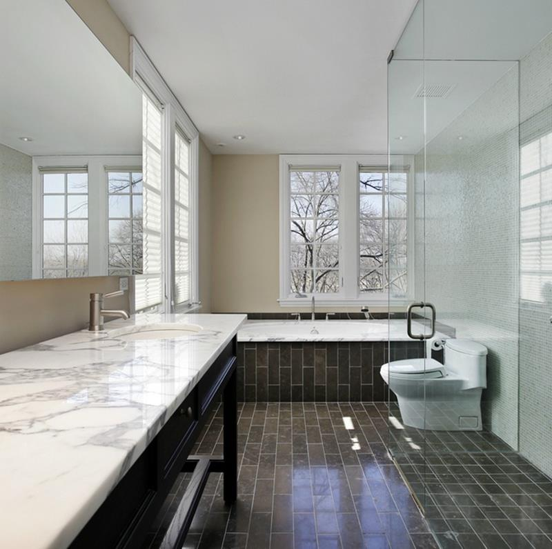 Why White Kitchen Interior Is Still Great For 2019: 23 Marble Master Bathroom Designs