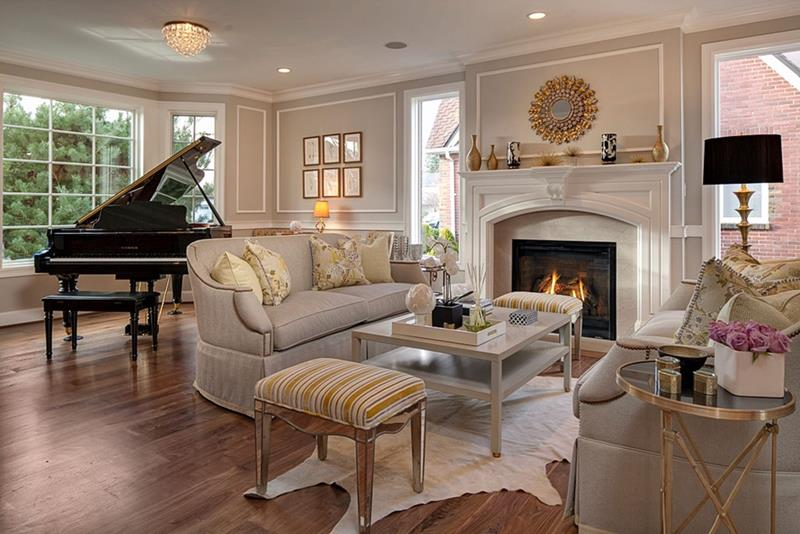 23 Stunning Living Rooms with Crown Molding-12