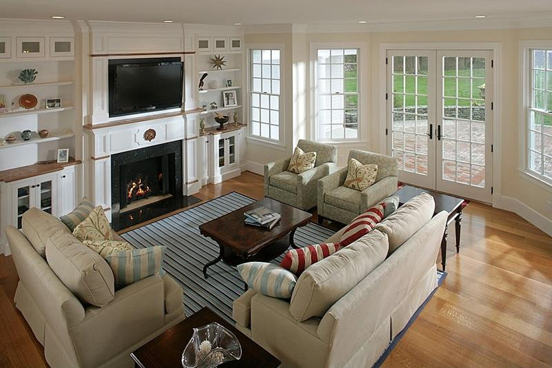 23 Stunning Living Rooms with Crown Molding-14