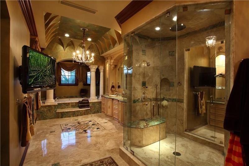 24 Brown Master Bathroom Designs-15
