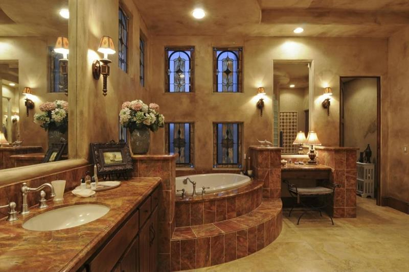 24 Brown Master Bathroom Designs-21