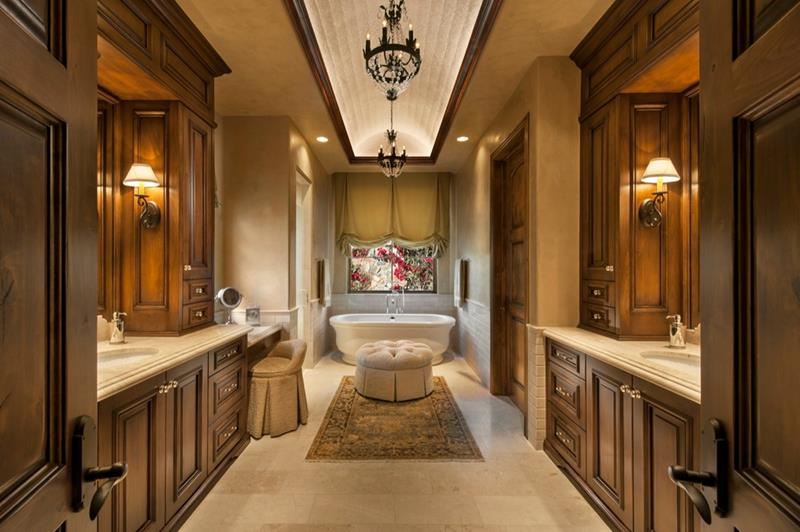 24 Brown Master Bathroom Designs-5