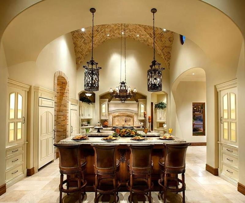 24 Kitchens with Jaw Dropping Cathedral Ceilings-13