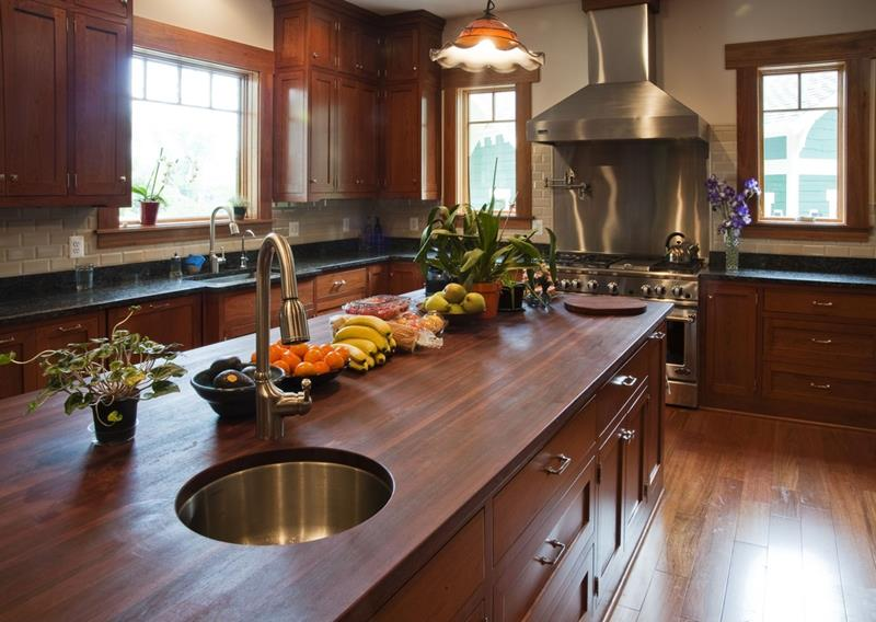 25 Kitchens with Stunning Wood Counters-14