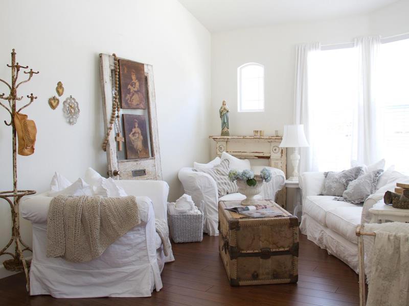 23 Shabby Chic Living Room Design Ideas-20
