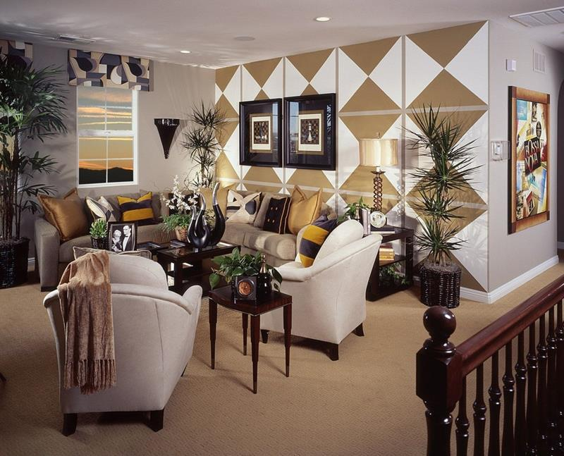 24 Gorgeous Living Rooms with Accent Walls-12