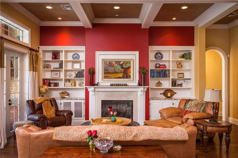 24 Gorgeous Living Rooms with Accent Walls-13