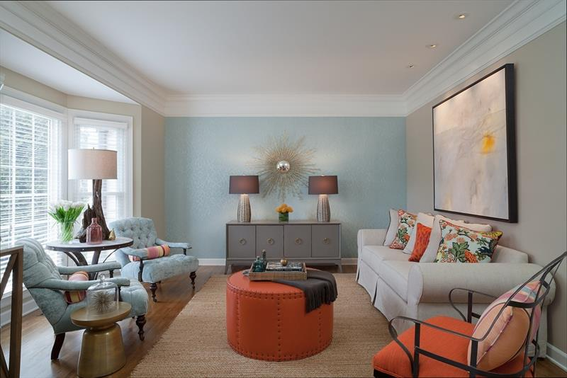 24 Gorgeous Living Rooms with Accent Walls-16