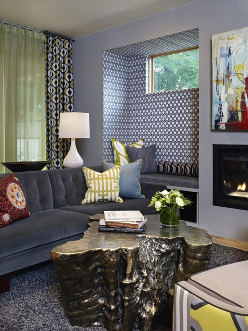 24 Gorgeous Living Rooms with Accent Walls-17