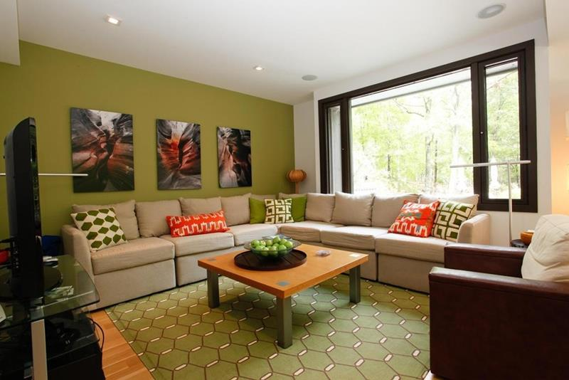 24 Gorgeous Living Rooms with Accent Walls-19