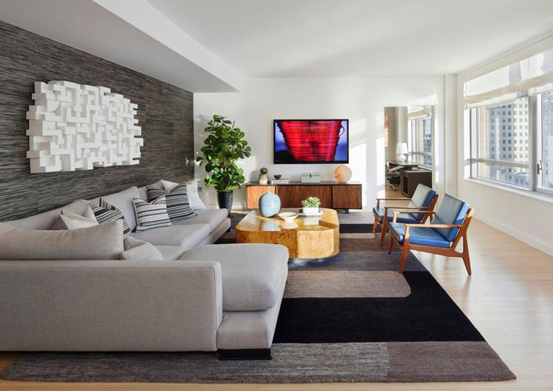 24 Gorgeous Living Rooms with Accent Walls-2