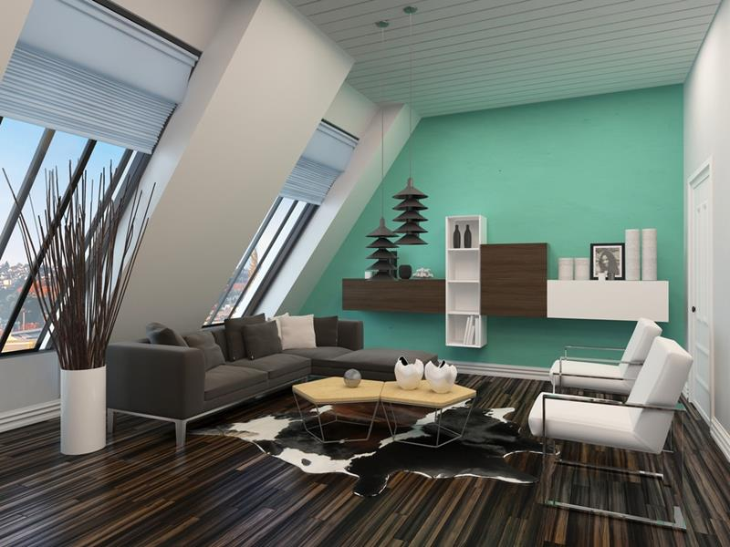 24 Gorgeous Living Rooms with Accent Walls-23