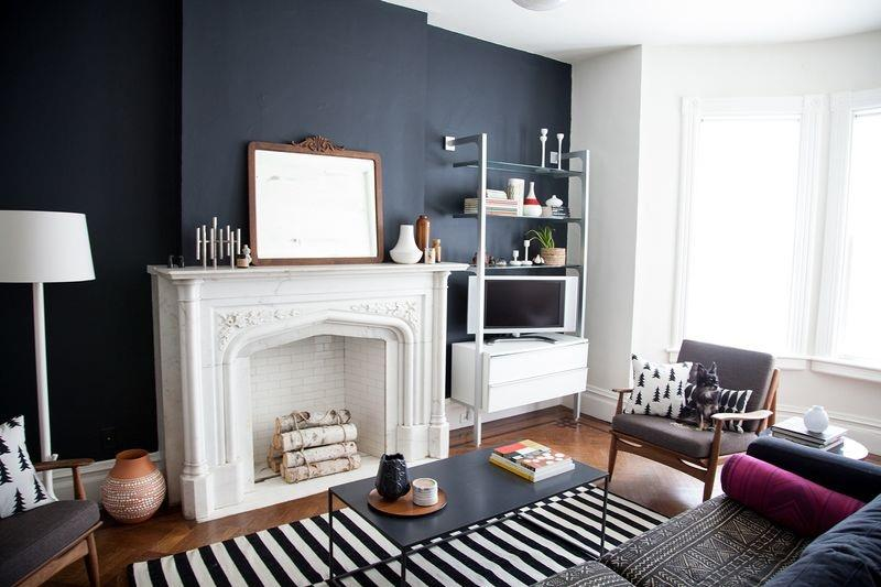 24 Gorgeous Living Rooms with Accent Walls-5