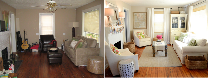 BEFORE AND AFTER 12 Inspiring Living Room Makeovers-title