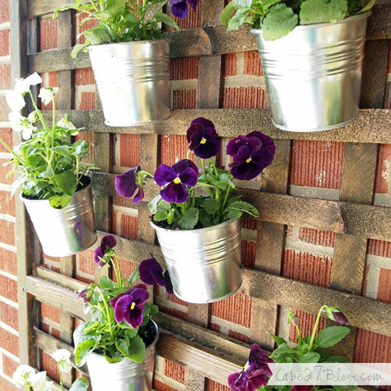 19 Inspirational Ideas for Recycled Hanging Baskets-17
