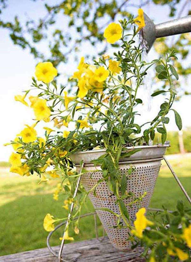 19 Inspirational Ideas for Recycled Hanging Baskets-8