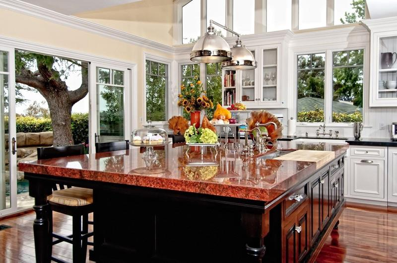 24 Beautiful Granite Countertop Kitchen Ideas on Kitchen Farmhouse Granite Countertops  id=84624