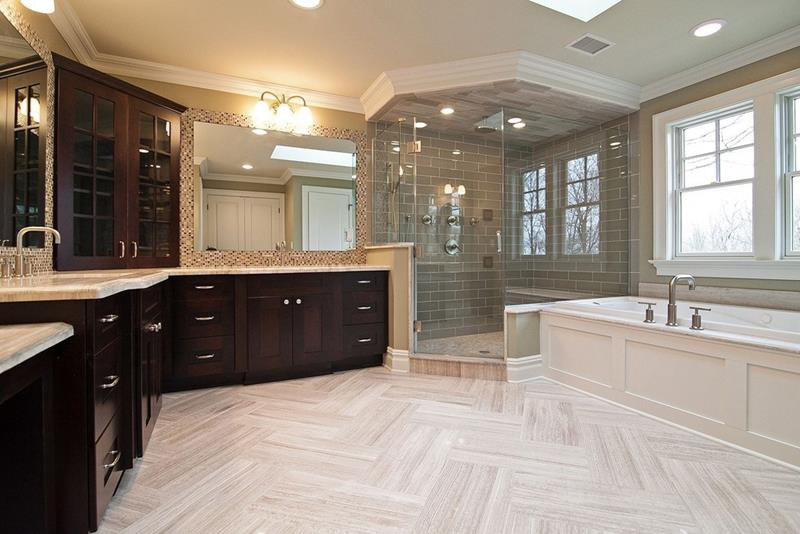 24 Beautiful Ideas for Master Bathroom Windows-3