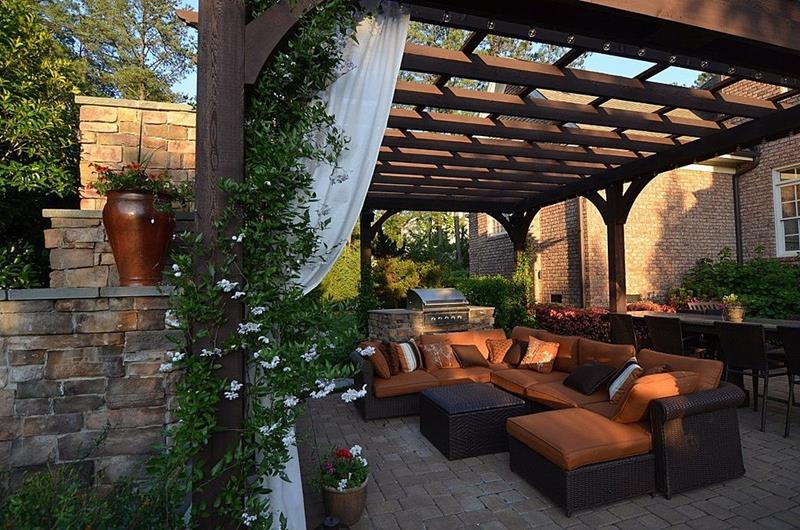 20 Gorgeous Backyard Patio Designs and Ideas-14