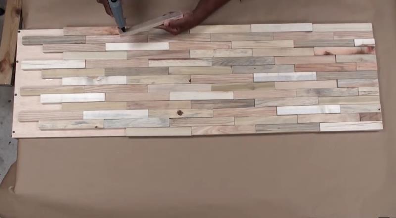 How to Make DIY Wood Pallet Backsplash-11