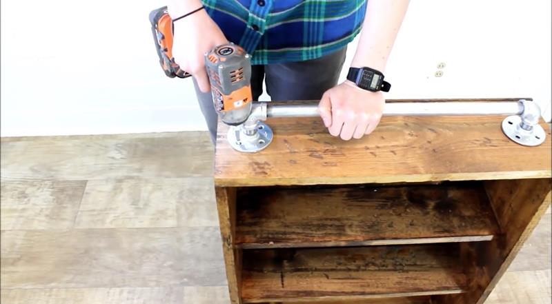 How to Make Your Own DIY Rustic Bathroom Cabinet-13