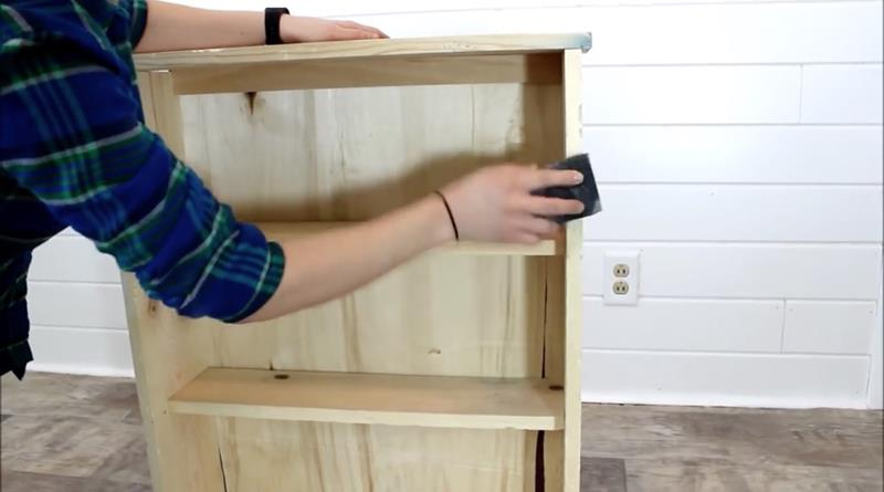How to Make Your Own DIY Rustic Bathroom Cabinet-9