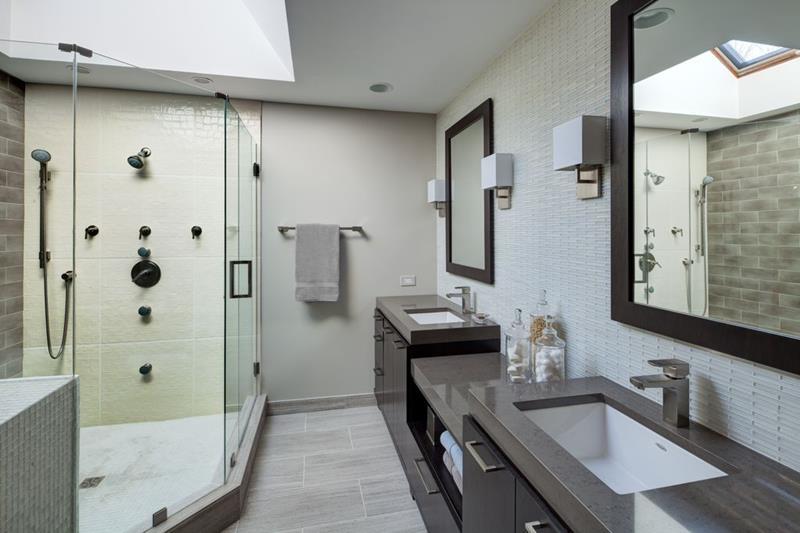 15 master bathrooms with dual vanities