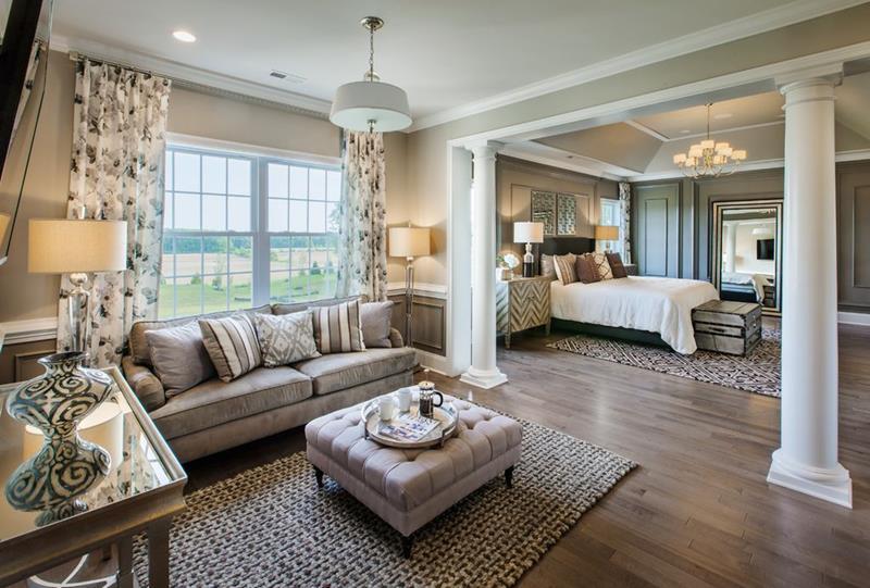 astounding model home living room | 20 Amazing Luxury Master Bedroom Design Ideas