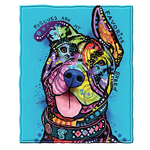 Rescues Are My Favorite Breed Fleece Throw Blanket by Dean Russo